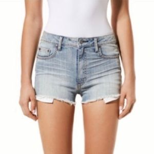 Aritzia Talula Raw Hem High Rise Jean Shorts